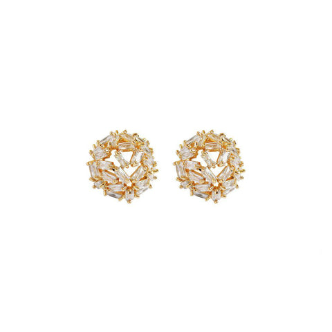 NANI GOLD CRYSTAL BALL STUDS