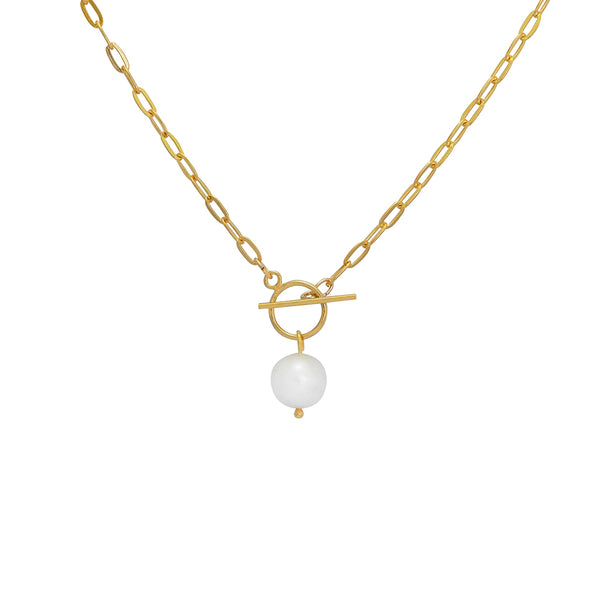 ishaan freshwater pearl link chain
