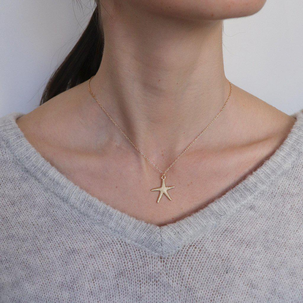 LARGE STAR FISH GOLD FILLED PENDANT