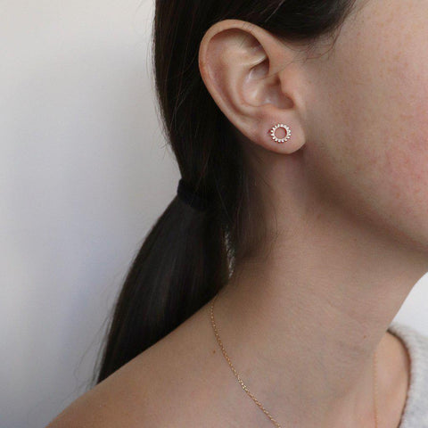 SHIRAN 2 MICRON GOLD HOLLOW STUDS