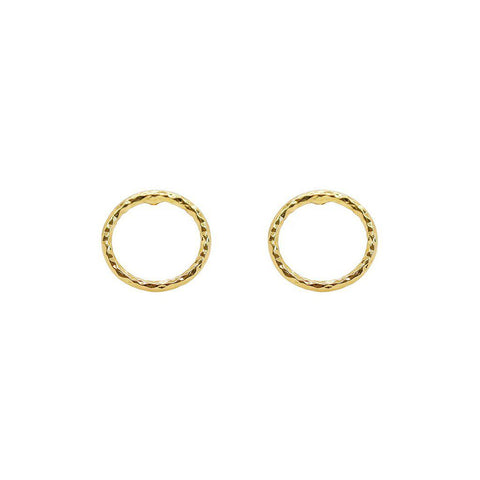 ODRA HOLLOW GOLD STUDS EARRINGS
