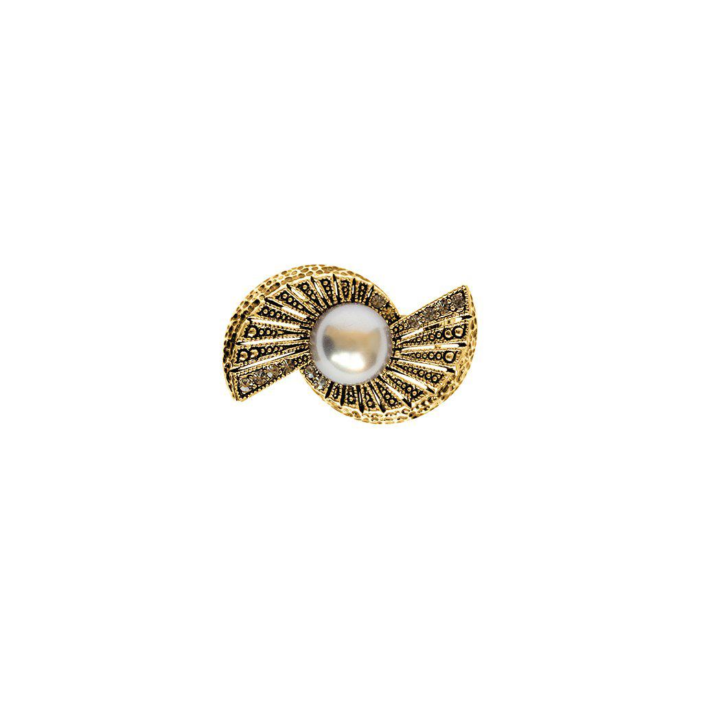 OLLY ANTIQUE PEARL BROOCH
