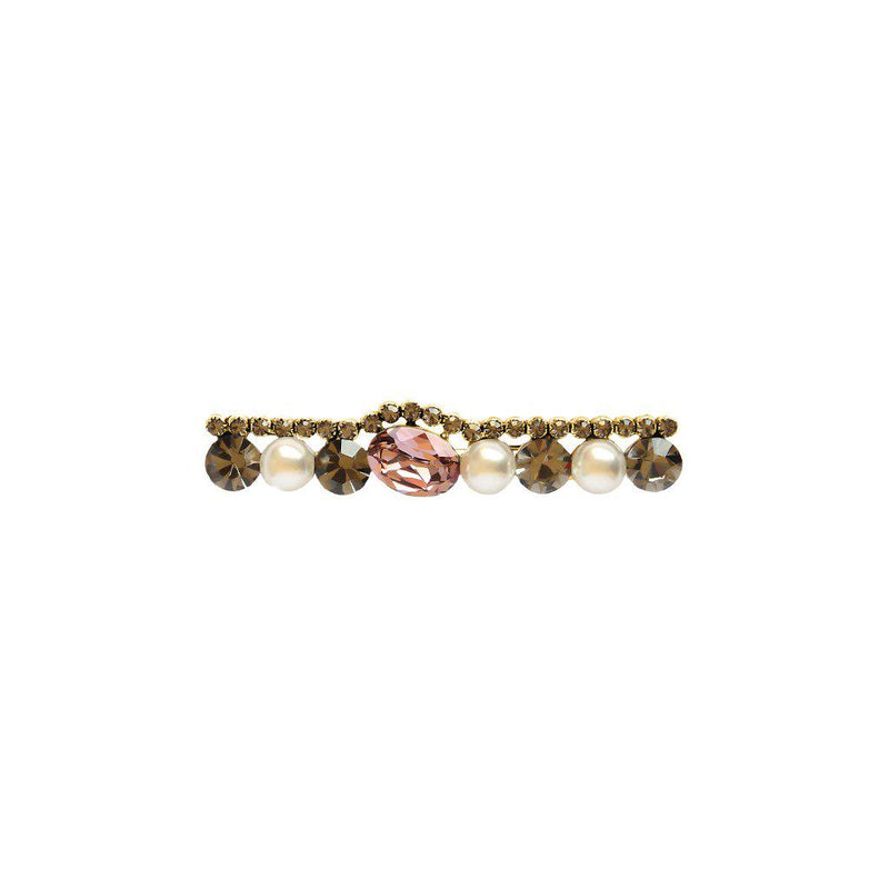 OSYKA PEARL AND PINK CRYSTAL BROOCH