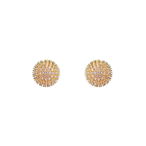 OYKNO BALL CRYSTAL GOLD STUD
