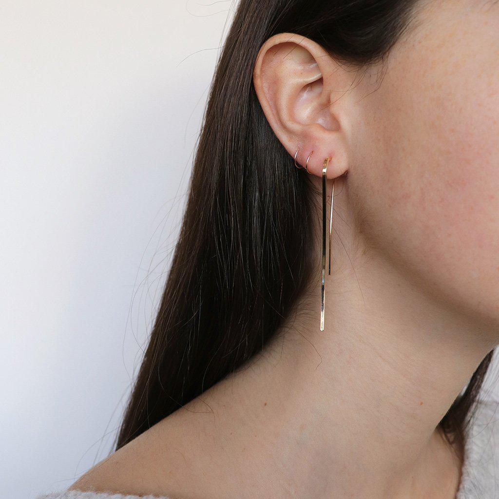 OFRI 2MICRON GOLD PLATED HOOK EARRINGS