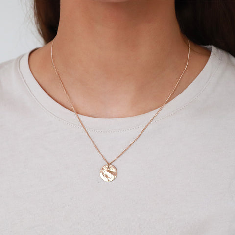 PERSYS ROSE GOLD DISC DROP PENDANT