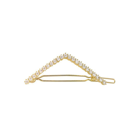 PAZIZE CLEAR CRYSTAL GOLD HAIR CLIP
