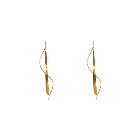 PILI 2 MICRON GOLD EARRINGS