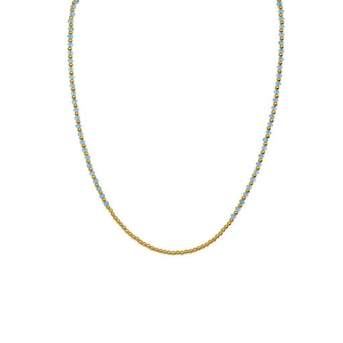 RAEGAN BLUE TOPAZ SEMI-PRECIOUS STONE NECKLACE