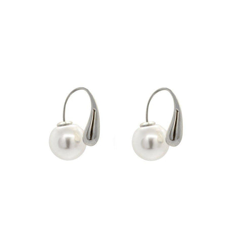 RAMLA SILVER AND PEARL EARRINGS