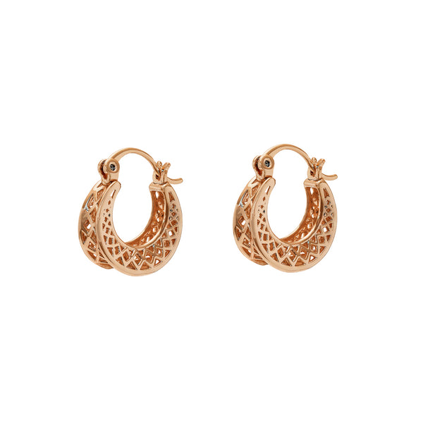 Tally filigree hoop earrings