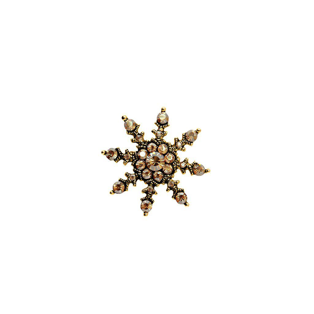 ROAN FLOWER BEIGE CRYSTAL BROOCH