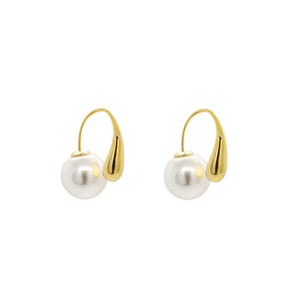 RAMLA GOLD AND PEARL EARRINGS