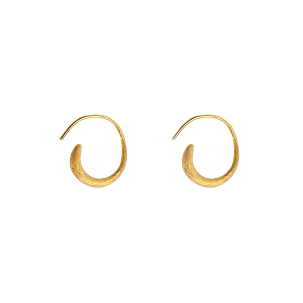 RANYA 2 MICRON GOLD HOOK EARRINGS