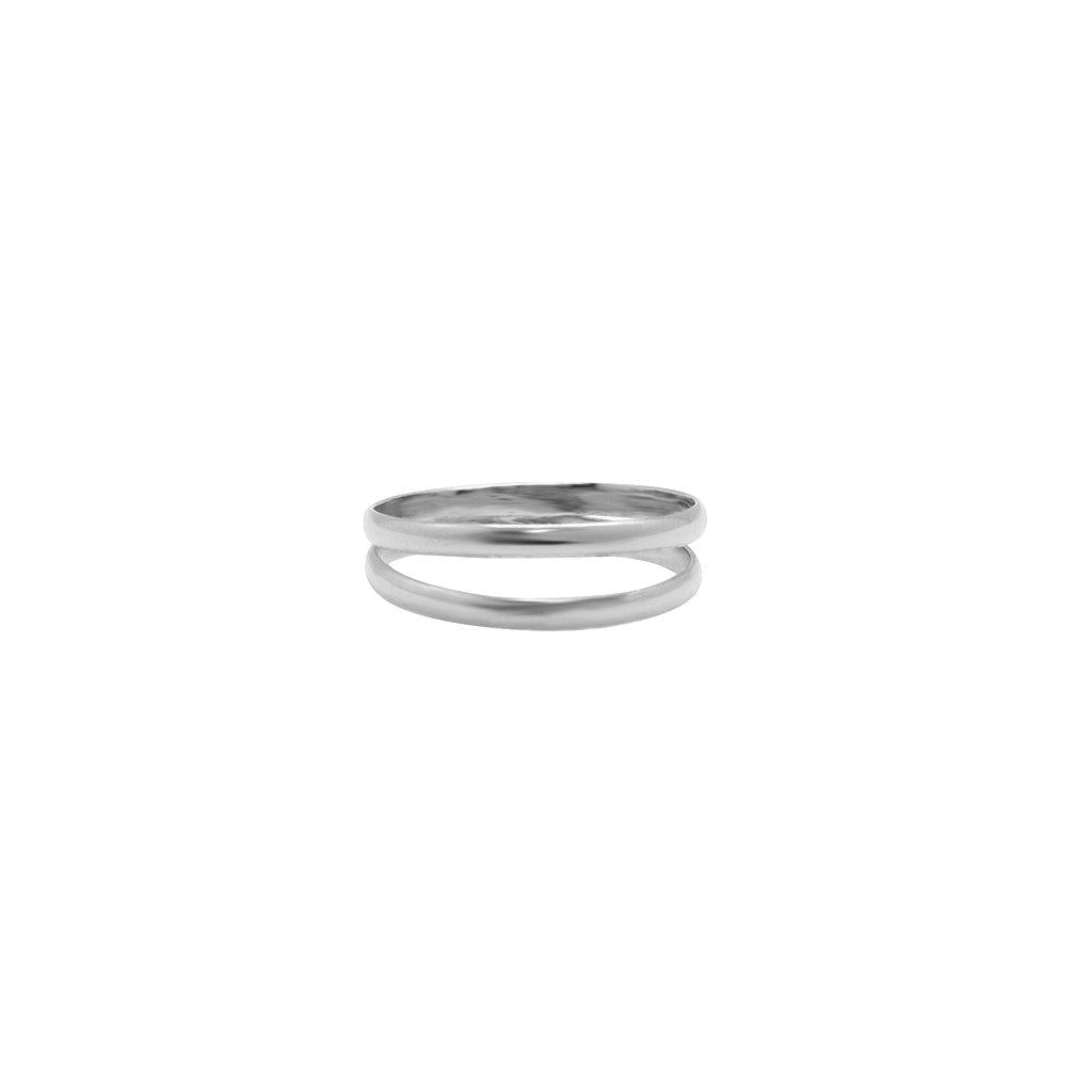 SELIMA DOUBLE LINE STERLING SILVER RING