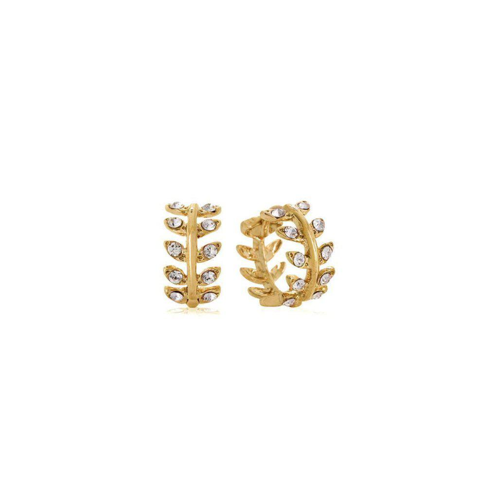 RIA SMALL GOLD CRYSTAL HUGGIES