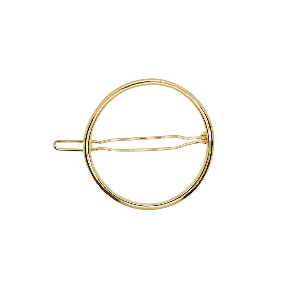 ROUND HOLLOW GOLD HAIR CLIP