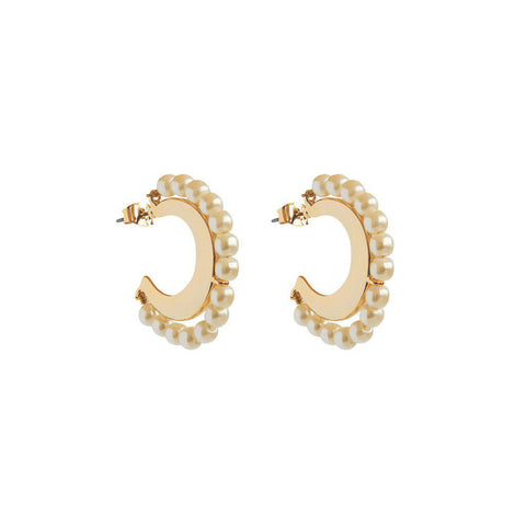 SADAF GOLD PEARLS EARRINGS