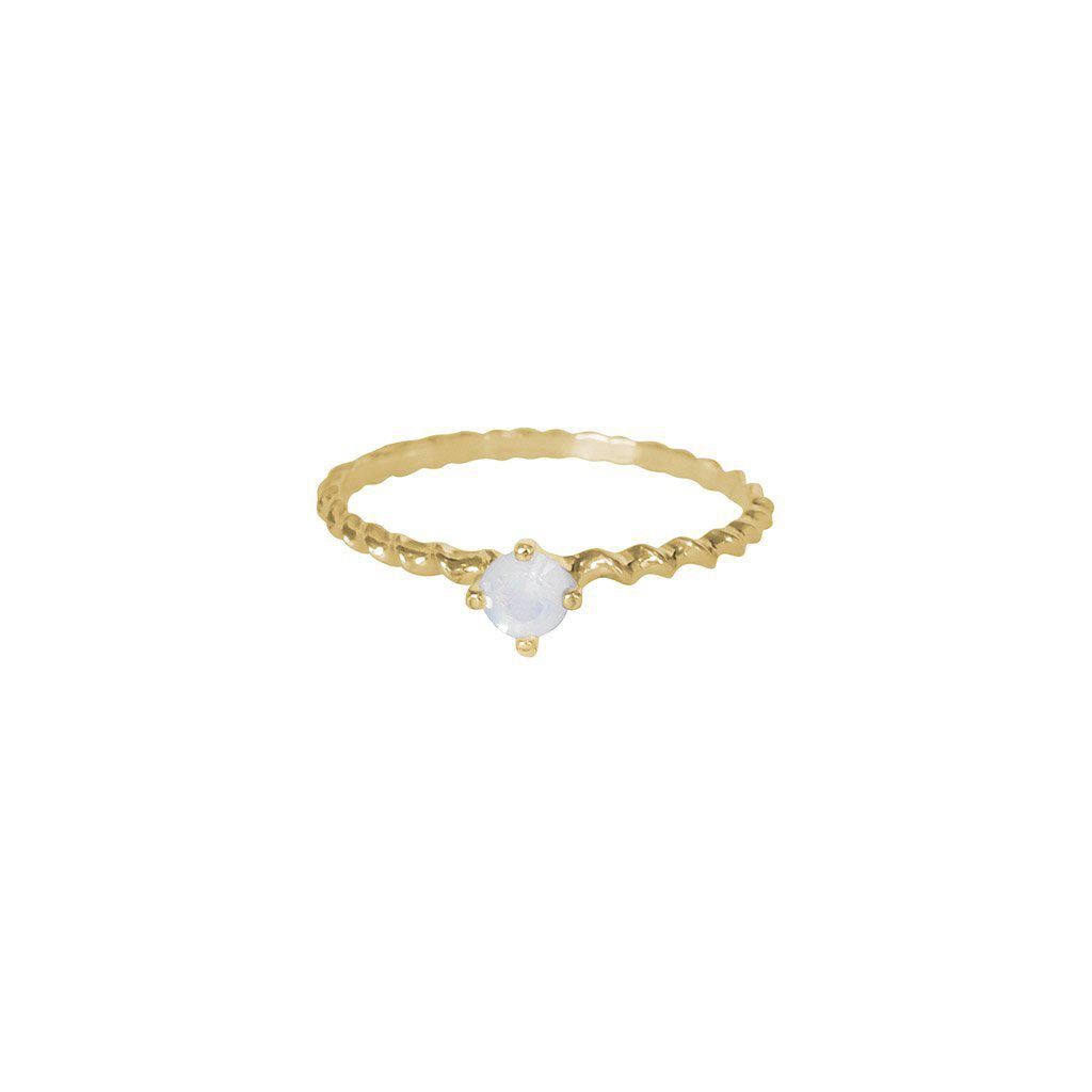 SHAILY WHITE CRYSTAL GOLD FILLED RING