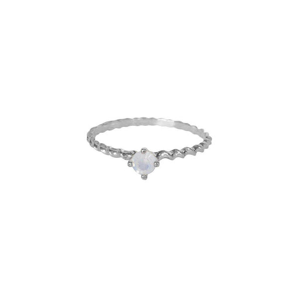 SHAILY WHITE CRYSTAL STERLING SILVER RING