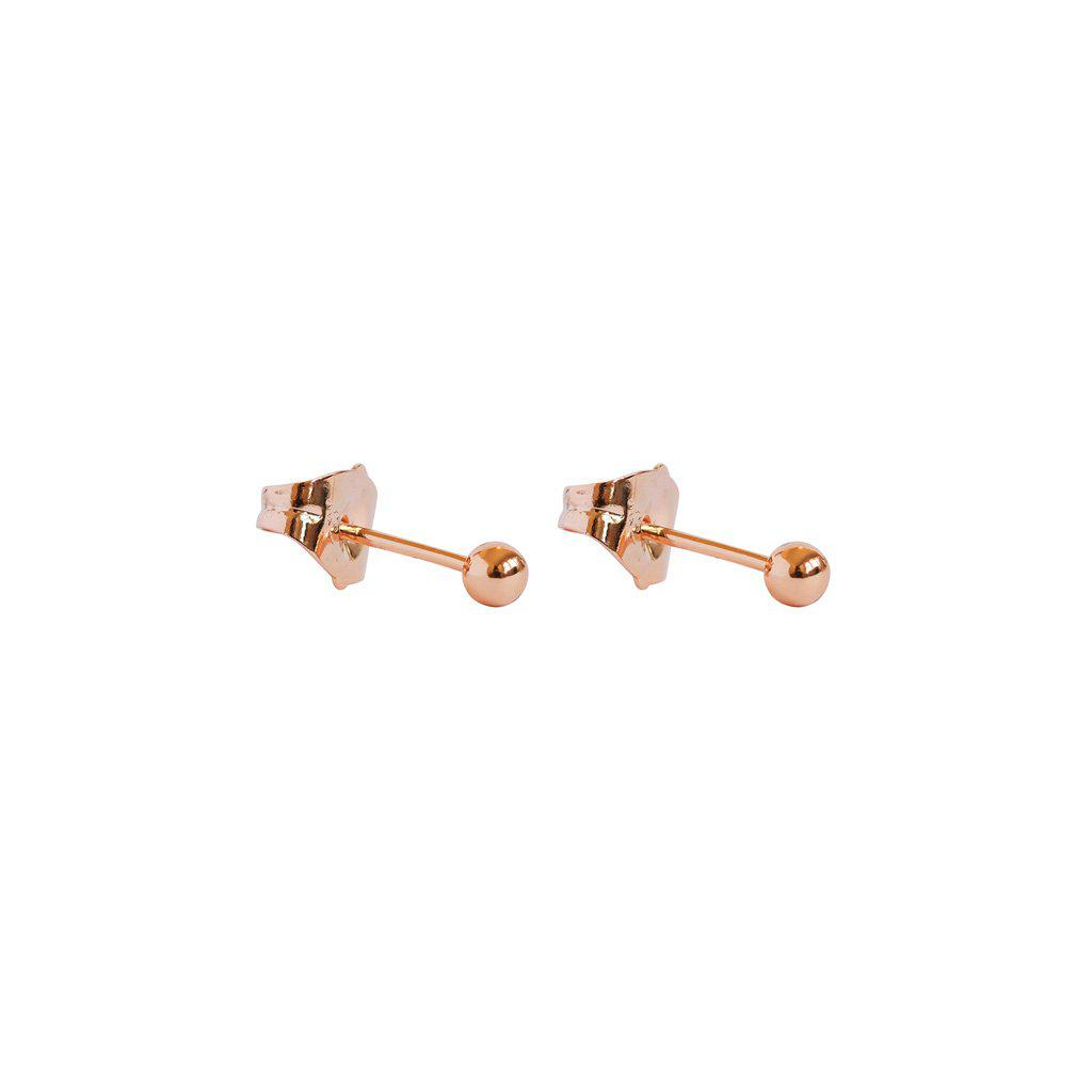 SMALL ROSE GOLD STUDS