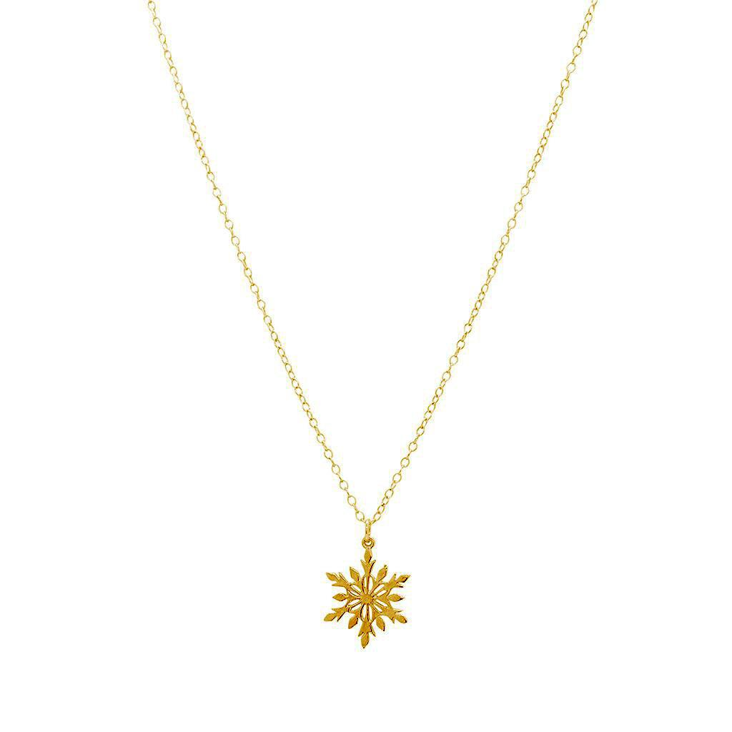 SNOWFLAKE GOLD FILLED PENDANT