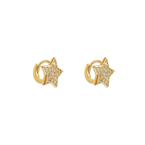 STAR LARGE GOLD CRYSTAL HUGGIES