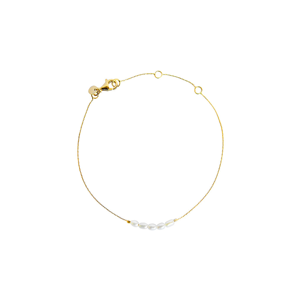 TINLEY FRESHWATER PEARLS GOLD PLATED BRACELET