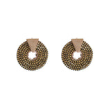 TULSL ANTIQUE GOLD ROUND METAL STUDS