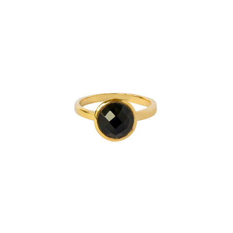 ELKIN ONYX GOLD FILLED SEMI-PRECIOUS RING