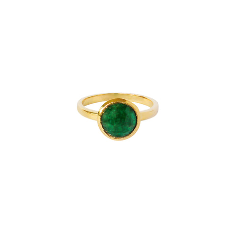 ELKIN GREEN QUARTZ GOLD FILLED SEMI-PRECIOUS RING