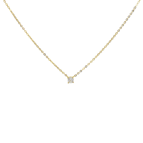 gem solitaire crystal necklace