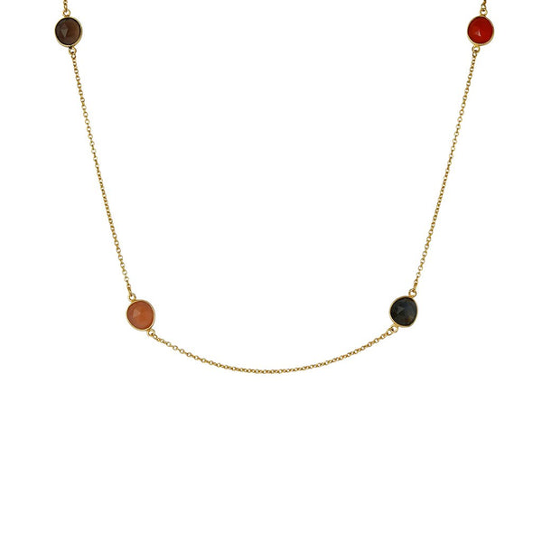Aolani semi-precious 2 micron gold necklace