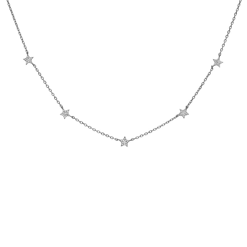 multi star crystal necklace