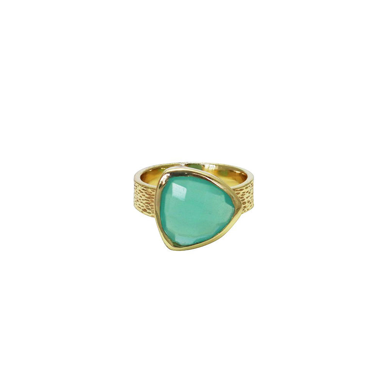 Sully semi-precious 2 micron gold ring