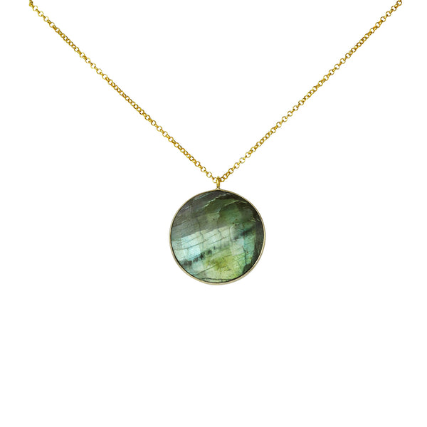 giola gold labradorite necklace