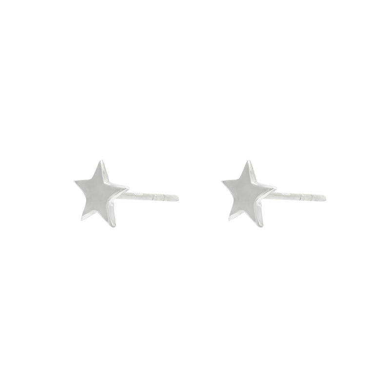 Star sterling silver stud earrings