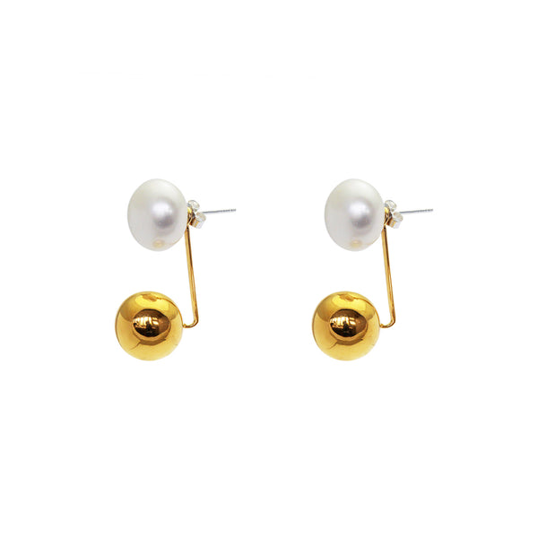 August freshwater pearl earrings