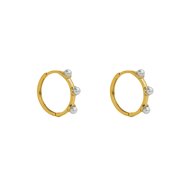 DILAN GOLD PEARL HOOPS