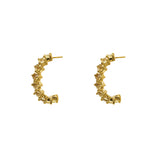 NUBIA CITRINE GOLD EARRINGS