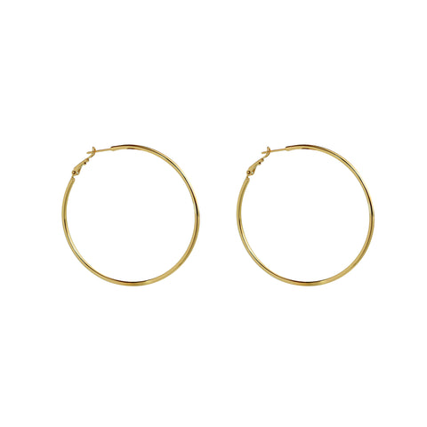 KALIL LARGE GOLD HOOP EARRINGS