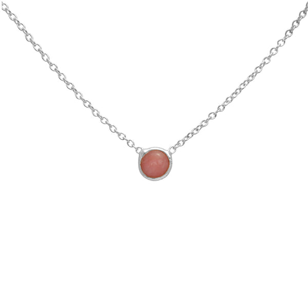 Lena pink opal necklace