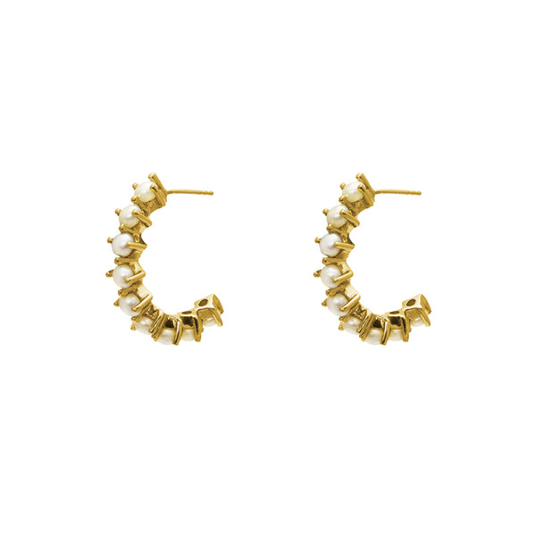 FELISA CITRINE GOLD EARRINGS