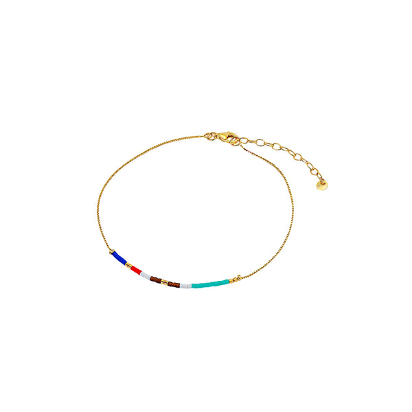 April colourful beads anklet