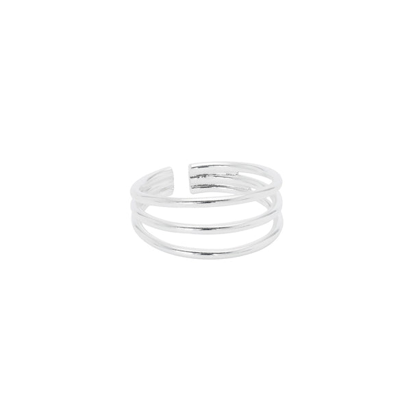 Three line toe ring