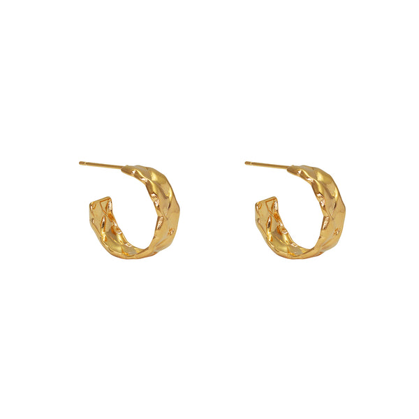 arun 1 micron gold hoops