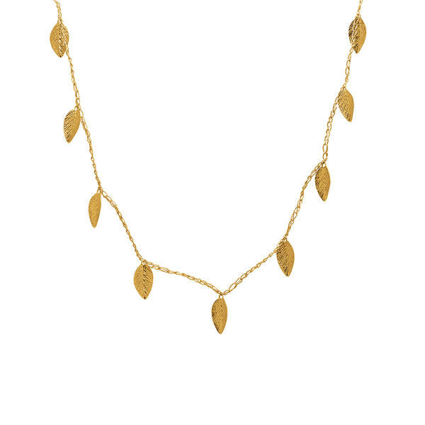 Daun Silk Leaf Necklace
