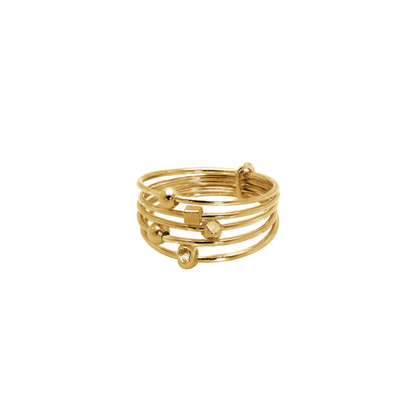 Boadle 2 Micron Gold Ring