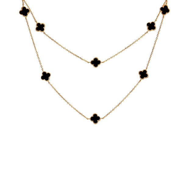 clover onyx necklace