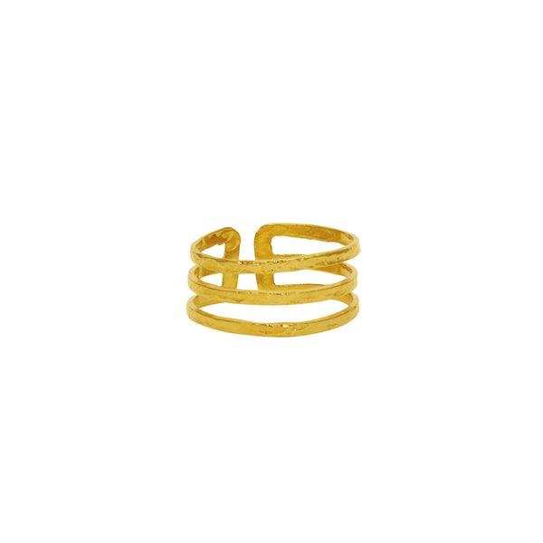 MAGNU GOLD FILLED THREE LINK RING
